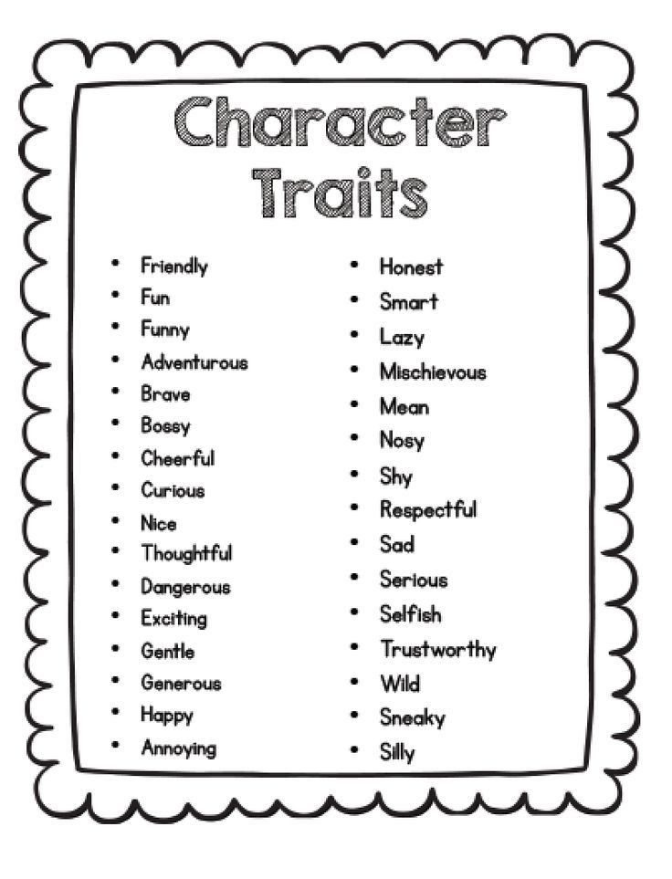 Best 25+ Teaching character traits ideas only on Pinterest ...