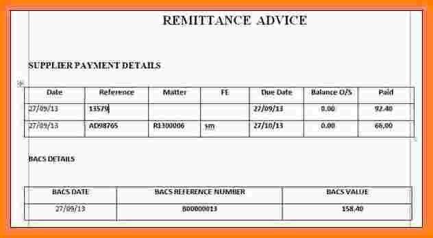 5+ sample remittance advice slip | Salary Confirmation