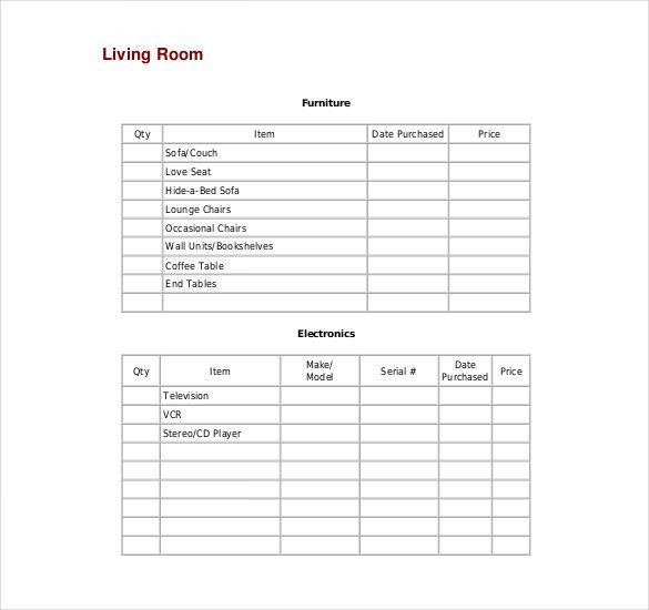 Sample Inventory List - 11 Free Word, Excel, PDF Documents ...