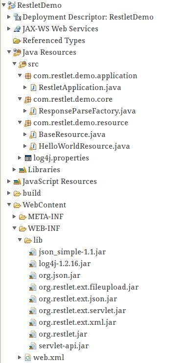Restlet Framework - Hello World Example