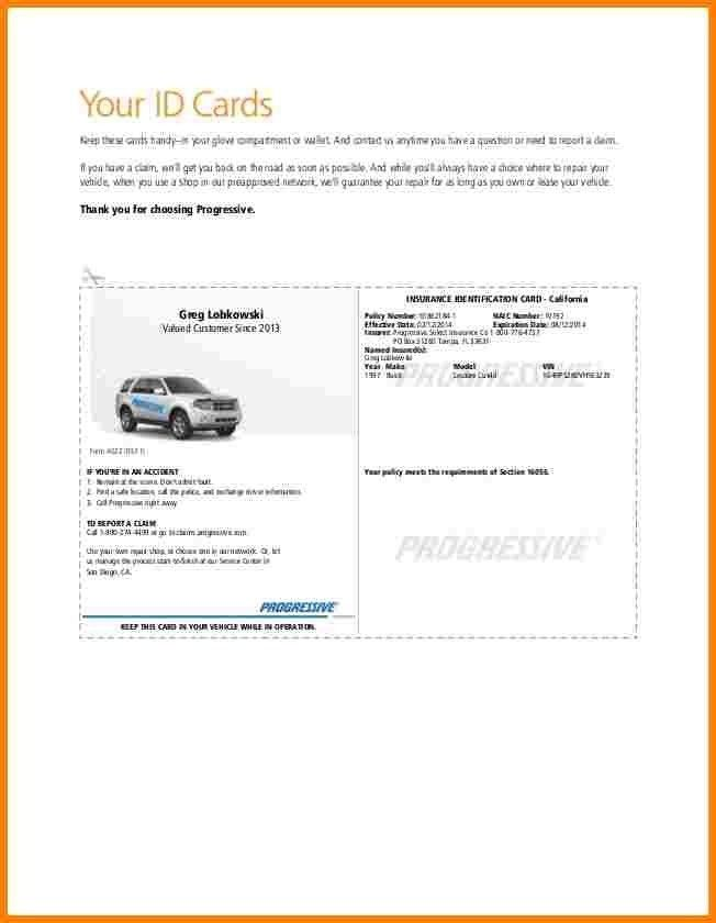 Auto Insurance Card Template Free Download | emailfaxreview.com