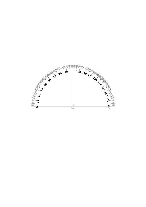 360 Degree Protractor Template - Ecordura.com