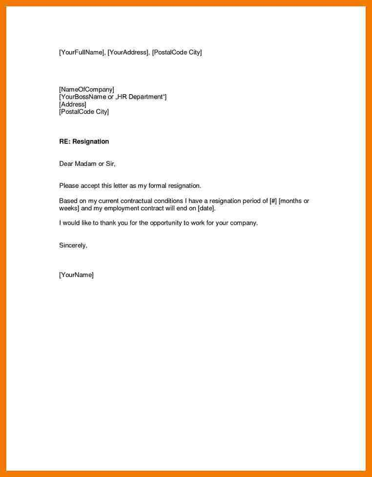 4+ example of resignation email | mailroom clerk