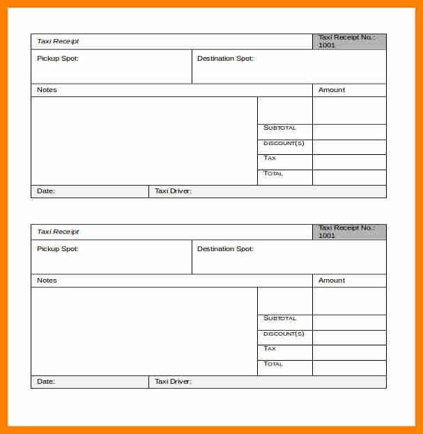 3+ call taxi bill format pdf | catering resume