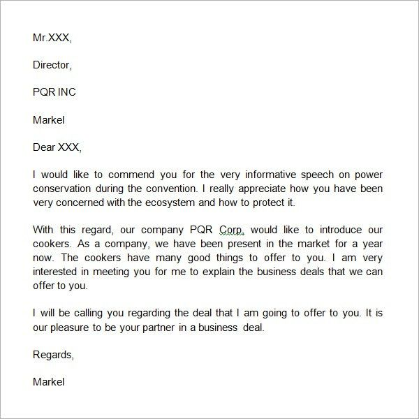 Sample Business Introduction Letter - Writing Professional Letters