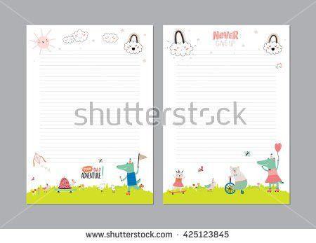 Cute Calendar Template 2016 Beautiful Diary Stock Vector 286713578 ...