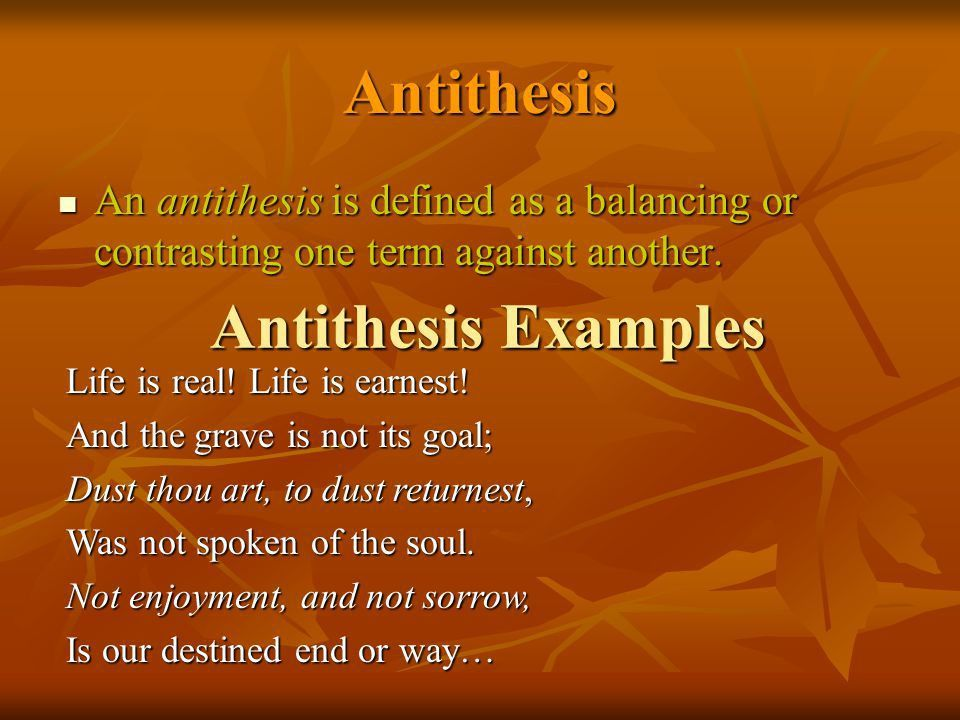 Definition And Examples Of Antithesis In Rhetoric