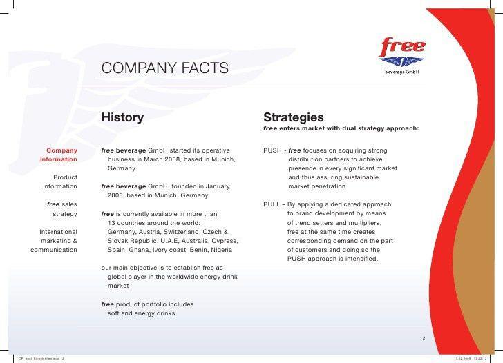 Company Profile Free Beverage
