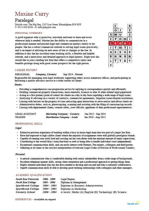 paralegal resume examples resume example download paralegal