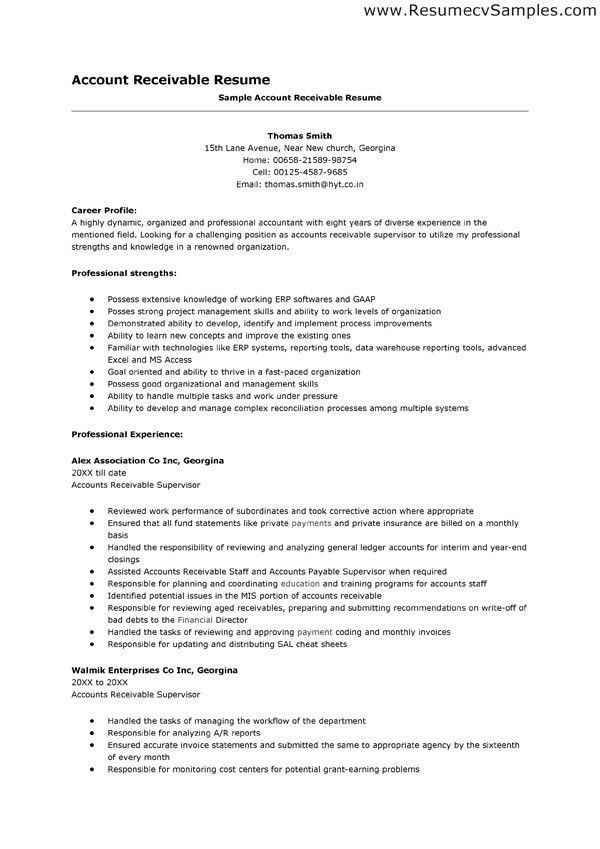 Accounts Receivable Manager Resume Examples - Contegri.com