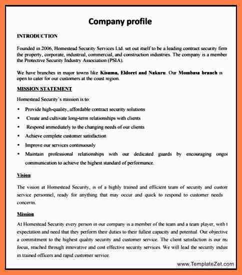 5+ new company profile sample | Company Letterhead