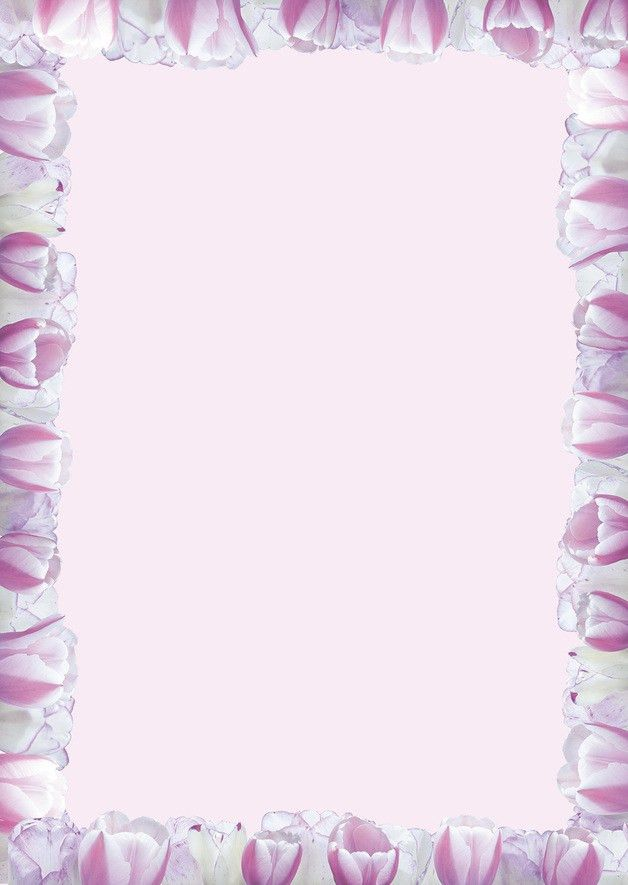 Letter Paper – 20 sheets writing paper design tulip pink rose – a ...