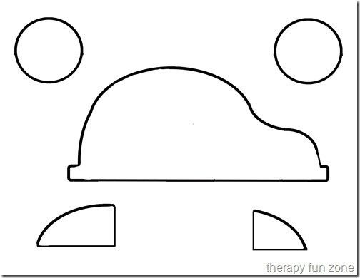 Scissor cutting designs - car - Therapy Fun Zone