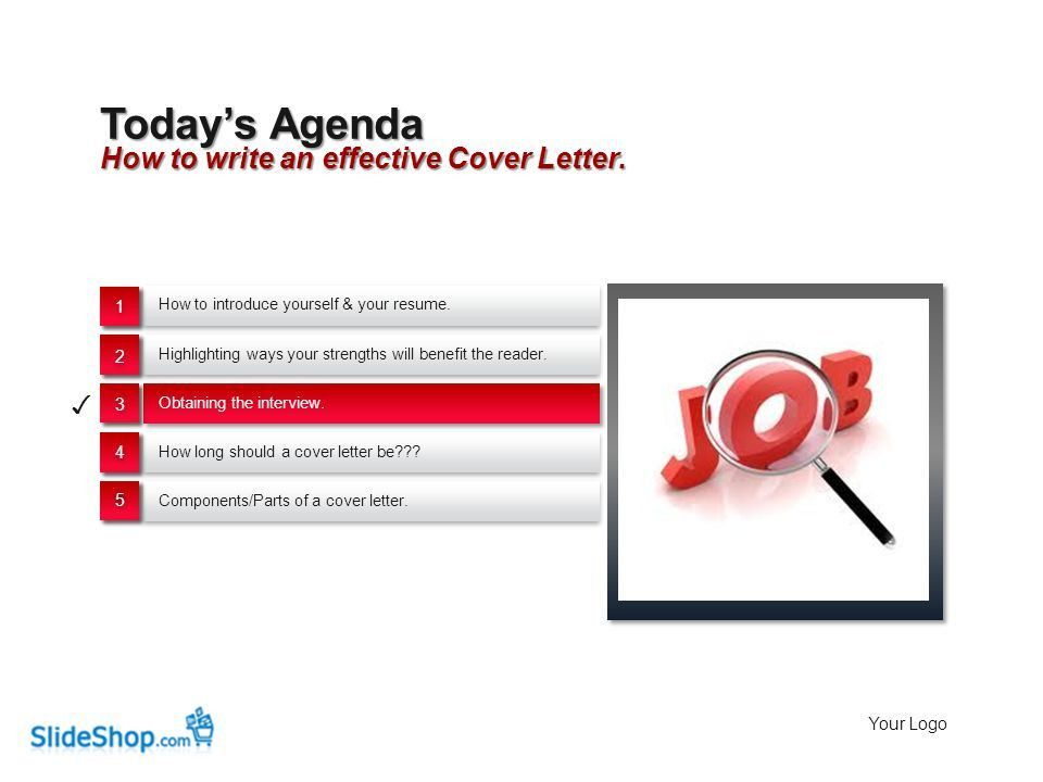 Planning 10 The Job Search: Cover Letters Your LogoYour own footer ...