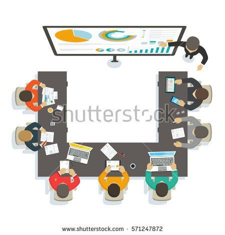 Business Seminar Consultant Provides Training On Stock Vector ...