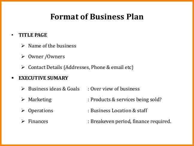 6+ title page of business plan | quote templates