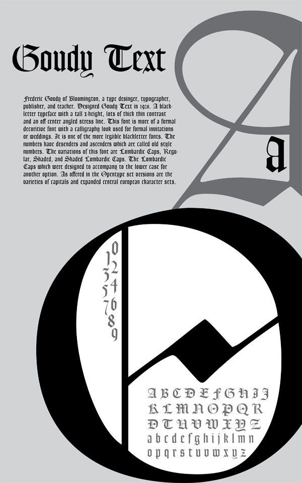Goudy Text Poster - Jaclyn Yvonne Typeface Poster Topic #1 Prime ...
