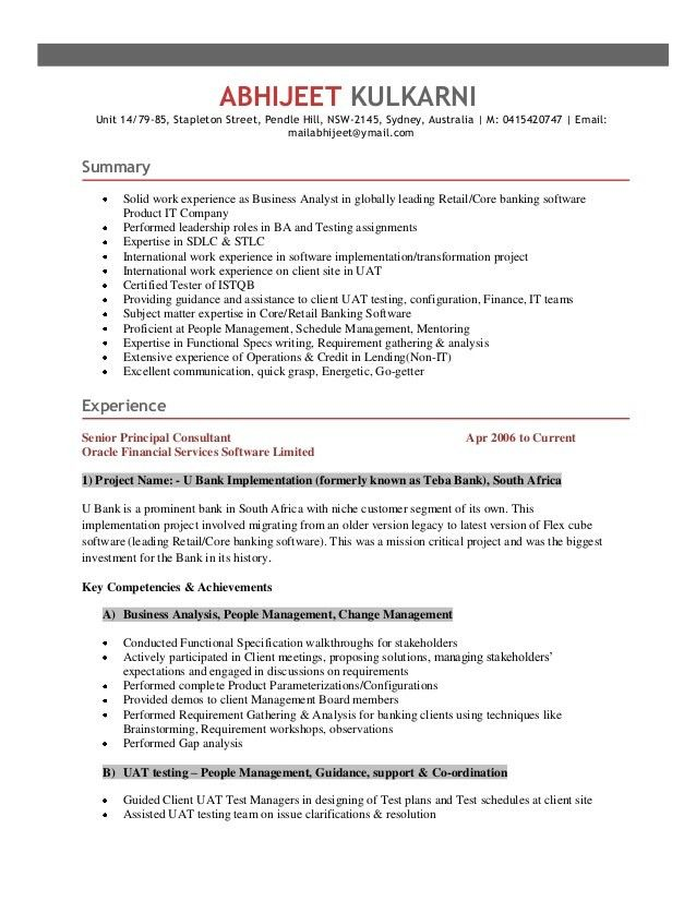 Manual qa tester sample resume