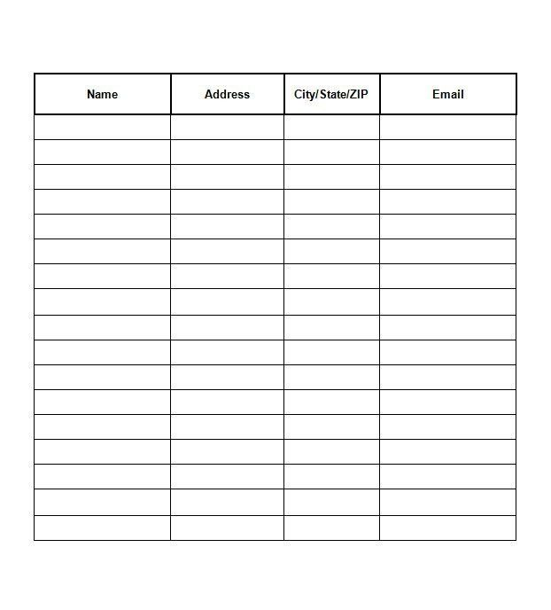 Microsoft Word Sign Template. sign in sheet templates 52 free word ...