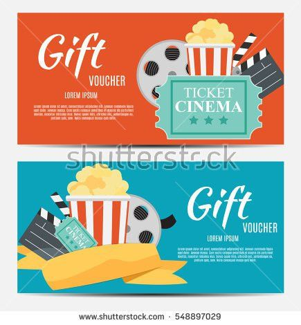 Gift Voucher Template Your Business Vector Stock Vector 548897029 ...
