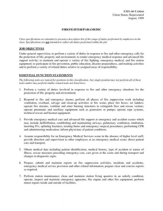 Paramedic Job Description. What Is The Job Description Of A ...