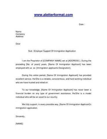 How To Write A Reference Letter For Immigration | Template Design