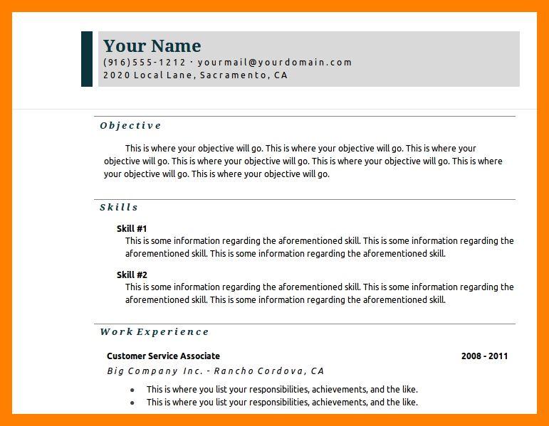 6+ google resume samples   resumed job