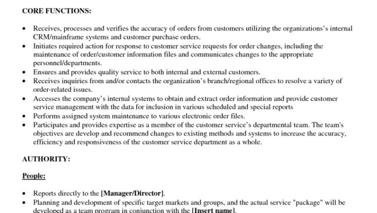 Customer Service Job Duties For Resume For Service Representative ...