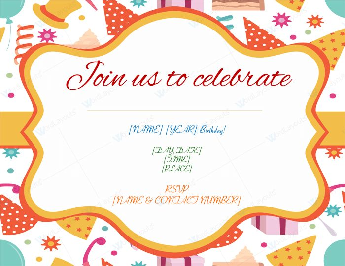 5+ Birthday Invitation Templates to Create Invitations