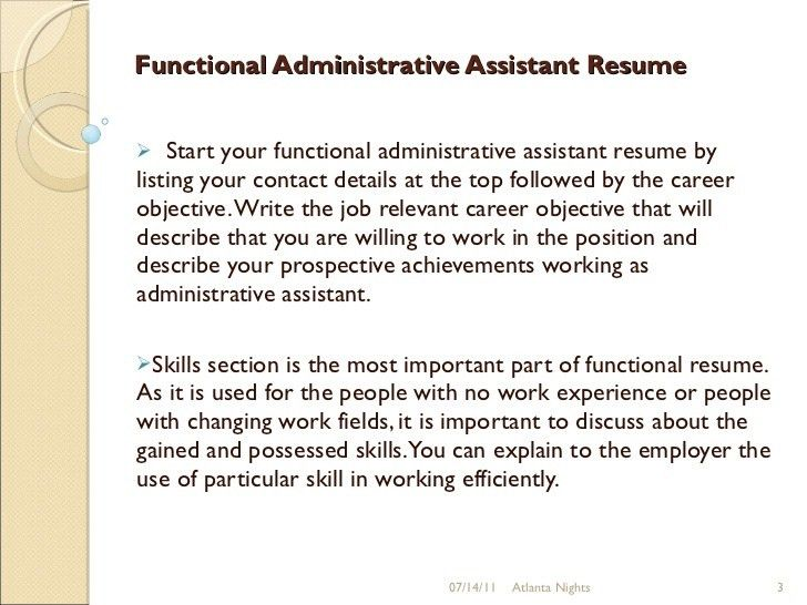 Functional administrative assistant resume 9