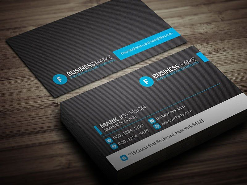 Modern Blue Corporate Business Card Template » Free Download » CP00012