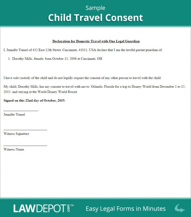 The Most Amazing as well as Interesting Child Travel Consent ...