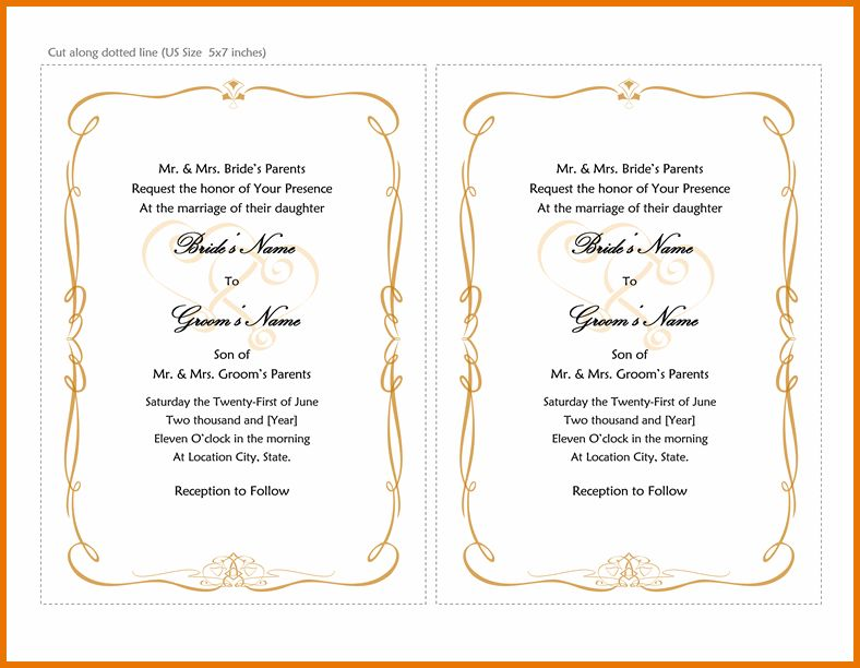 Wedding Invitations Templates Word.wedding Invitation Templates ...