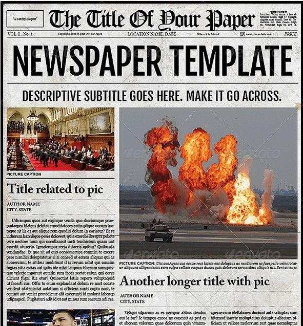 Old Newspaper Template | cyberuse
