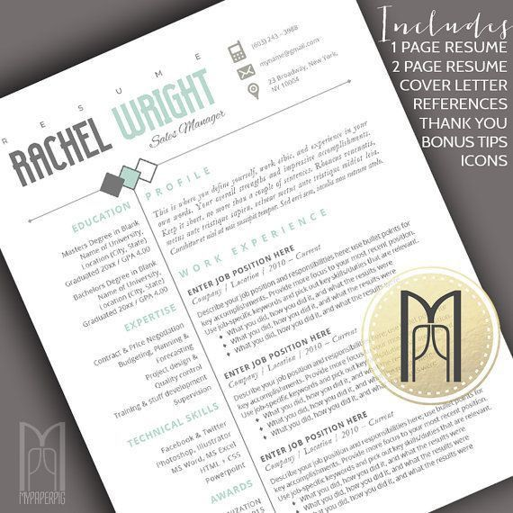 308 best Resumes Ideas & Templates images on Pinterest | Cover ...