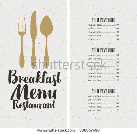 Restaurant Menu Design Vector Menu Brochure Stock Vector 628140872 ...