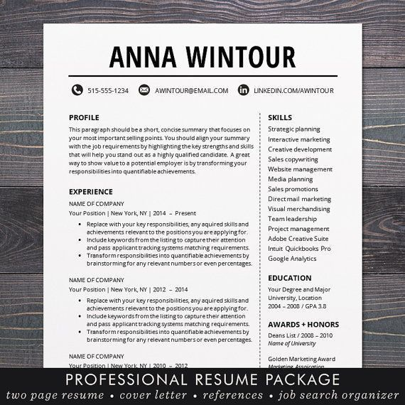 13 best cv images on Pinterest | Cv template, Resume templates and ...