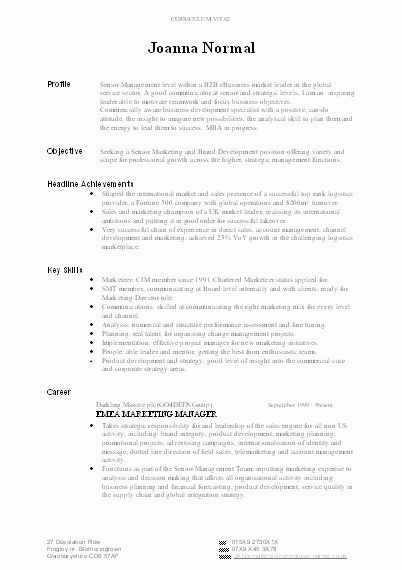 resume career overview