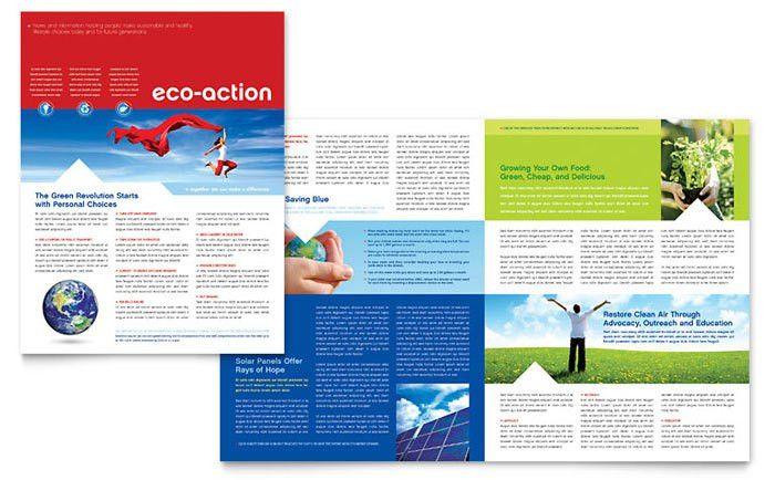 Green Living & Recycling Newsletter Template Design
