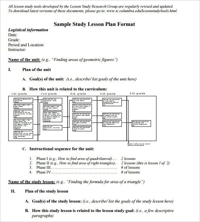 5+ Math Lesson Plan Template - Free Sample, Example Format | Free ...