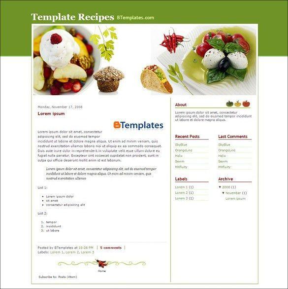 Food, Recipe Blog Website Templates & Themes | Free & Premium ...