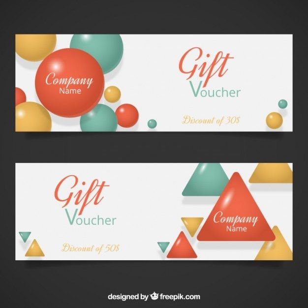 Geometrical Gift Voucher Template Vector | Free Download