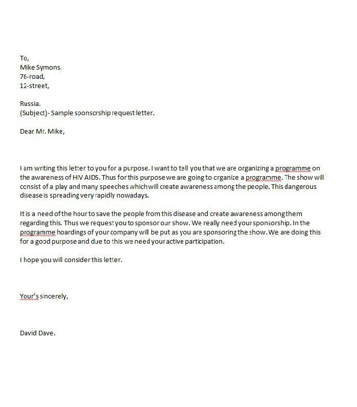 Writing A Sponsorship Proposal Letter Sponsorship Proposal Cover – Writing a Sponsorship Proposal Letter