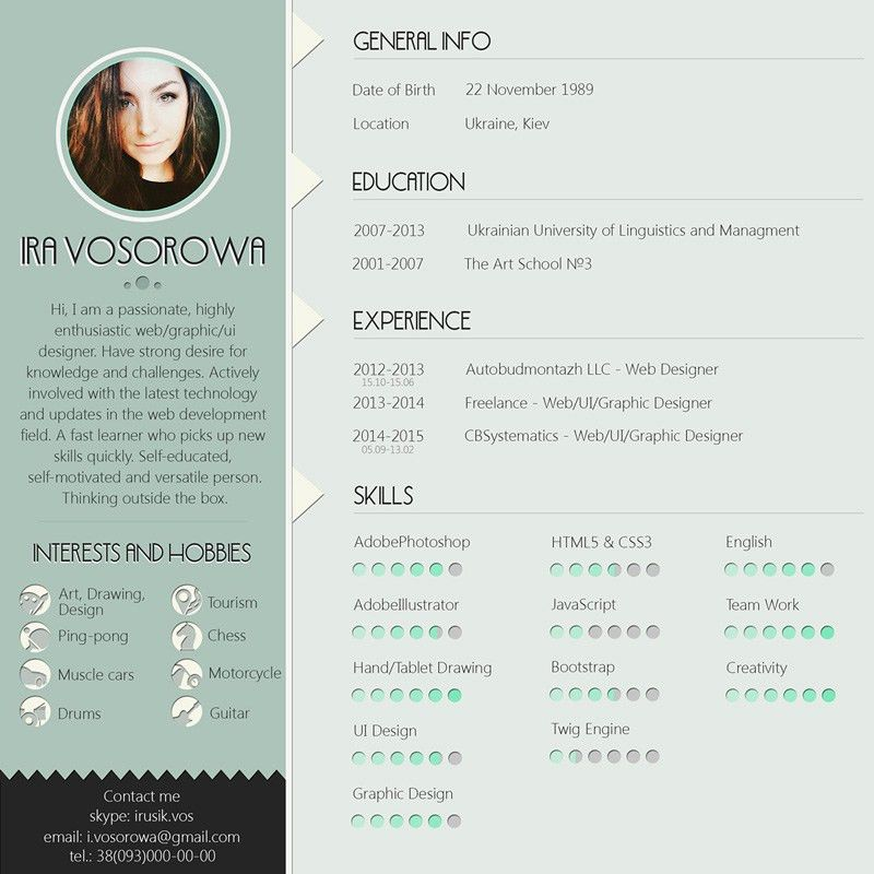 25+ modern and wonderful PSD resume templates free download ...