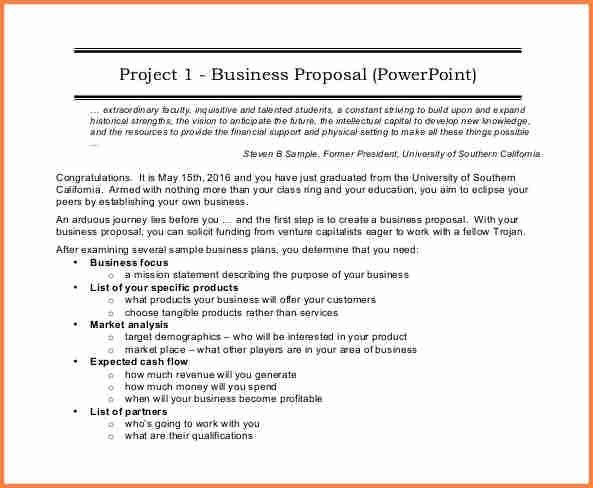 6+ sample of business proposal pdf | Project Proposal