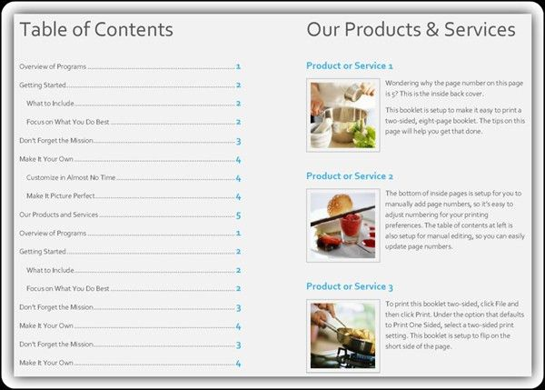 Product Catalogue Template Word. creating a product catalog in ...