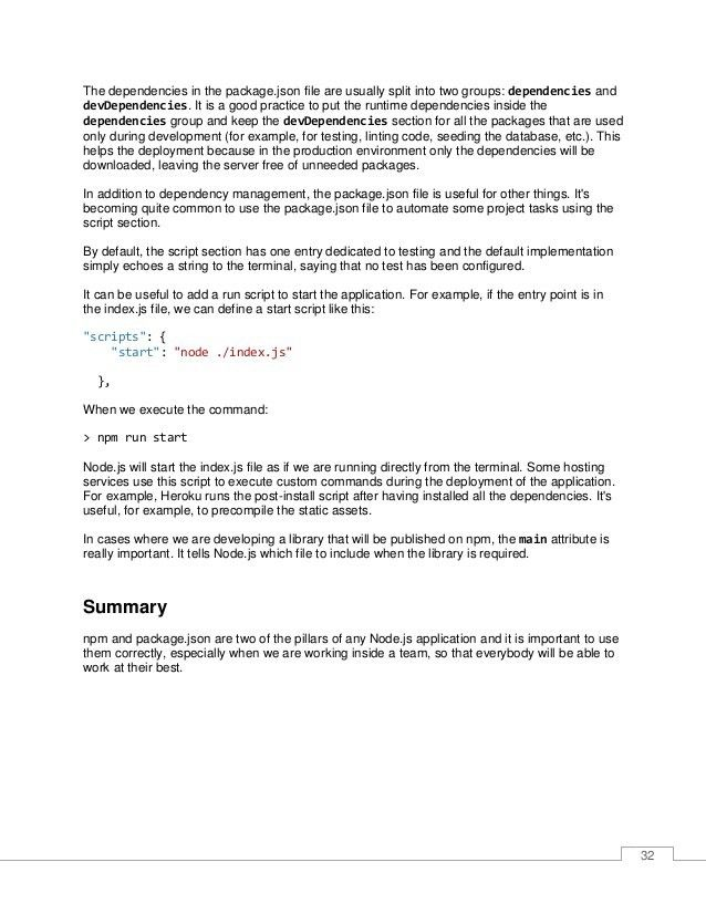 Node.js Succinctly - Author : Emanuele DelBono - syncfusion