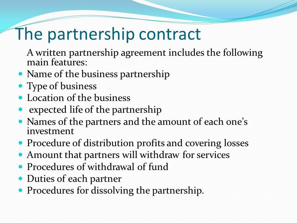 Business Partner Contract 71 | Jobs.billybullock.us