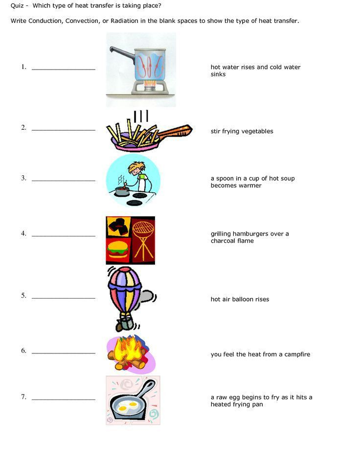 Radiation Conduction Convection Worksheet - Syndeomedia   Science ...