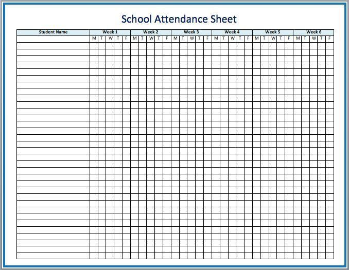 The 25+ best Attendance sheet template ideas on Pinterest | Sign ...